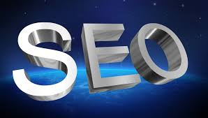 A pictire of the letters SEO with a blue backdrop